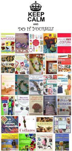 """DIY. Libros para tus creaciones. handmade, manualidades, bricolaje, ... Una """"mirilla"""" de la Biblioteca Municipal de Móstoles. http://bibliotecademostoles.wordpress.com/"""