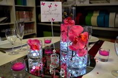 1000 centres de table d 39 orchid es sur pinterest centres - Miroir centre de table ...