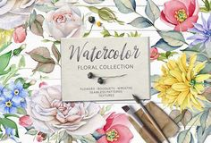 15% OFF.Watercolor Floral Collection by Eva-Katerina on @creativemarket