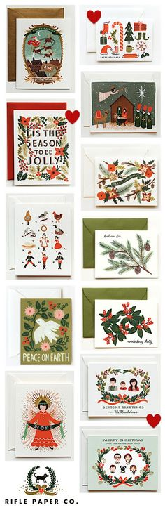 I love these holiday cards from rifle paper co
