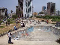 Skateboarding in Lima Skate Park, Graffiti, Environment, Exterior, Urban, Skates, History, Skateboarding, City