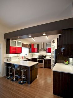 Staggering Cool Ideas: U Shaped Kitchen Remodel Home u shaped kitchen remodel home.U Shaped Kitchen Remodel Subway Tiles. Kitchen Design Small, Kitchen Remodel, Contemporary Kitchen, Kitchen Remodel Small, Kitchen Layout, Modern Kitchen Design, Kitchen Renovation, U Shaped Kitchen, Small U Shaped Kitchens