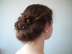 This tutorial is for a Curly Gibson Tuck Hairstyle. I hope you'll try it!  Let's begin Step one ~ Part the front section of your hair beginning from behind your ears to the top of your head on bot...