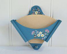 Coffee filter holder, vintage Swedish folklore decor, kitchen decoration, kitchenalia