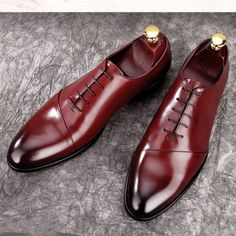 evening-formal-style-wine-colour-oxford-leather-mens-shoes