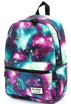 [HotStyle Fashion Printed] TrendyMax Galaxy Pattern School Backpack Cute for | eBay