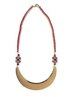 Great jeweled woven plate necklace!