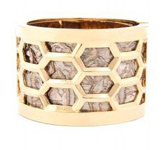 Kara Ross Honeycomb Python Cuff