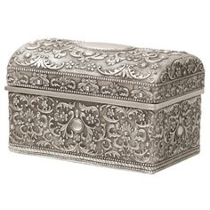 Pewter Col. Emb. Jewellery Box