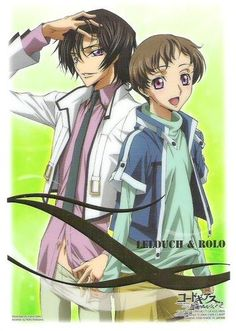 Code geass  Lelouch and Rolo - every time i see a pic with rolo i always feel so sad :'(
