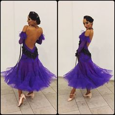 Fantastic purple dream by DLK United Design 💜💜💜 Latin Ballroom Dresses, Ballroom Costumes, Ballroom Dance Dresses, Dance Costumes, Latin Dresses, Ballroom Dancing, Dance Images, Dance Accessories, Dance Fashion