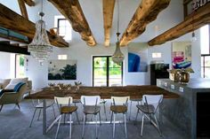 Interior Design with Reclaimed Wood and Rustic Decor in Country Home Style