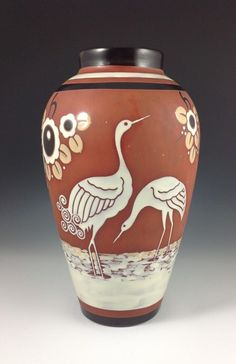 Boch Freres Keramis vase designed by Charles Catteau : The British Antique Dealers' Association