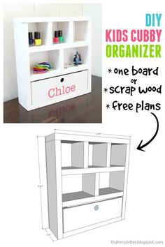 """That's My Letter: """"K"""" is for Kids Cubby Organizer: One Board Project"""