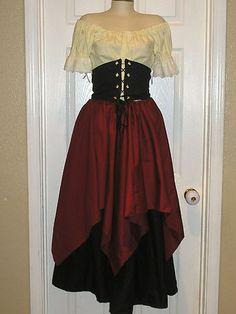 Lovely Romatic Renaissance Women Wench Pirate Full Costume Set | eBay