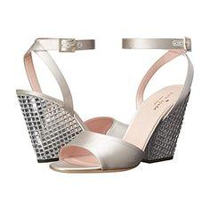 (ケイト スペード) Kate Spade New York レディース シューズ・靴 サンダル Isadora 並行輸入品  新品【取り寄せ商品のため、お届けまでに2週間前後かかります。】 表示サイズ表はすべて【参考サイズ】です。ご不明点はお問合せ下さい。 カラー:Dove Satin/Clear Stoned Heel