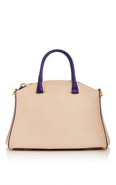 Trevi 32 contrast top handle bag by VBH for Preorder on Moda Operandi