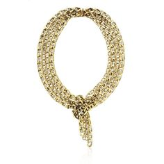 Gold and Crystal Wrap Necklace from JANIS SAVITT