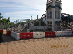 THe Lafayette bridge under renovation