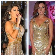Haifa Wehbe & Rakhi Sawant have the Same style