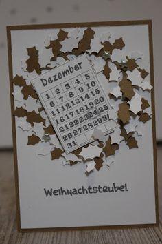 Paperbasics DT-Arbeit Weihnachtskarte mit Kranz und Dezemberkalenderblatt