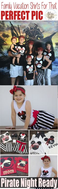 Pirate Night Outfits | Disney Cruise Shirts | Pirate Shirts Disney | Mickey Pirate Shirt | Disney Personalized Family Vacation Shirts | Disneyworld Shirts