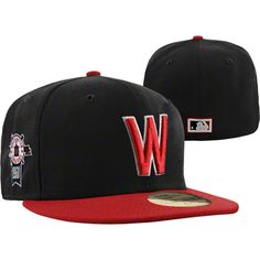 Washington Senators Black New Era Side Patch 59FIFTY Cooperstown Fitted Hat  Patches 428cd66bbc1b