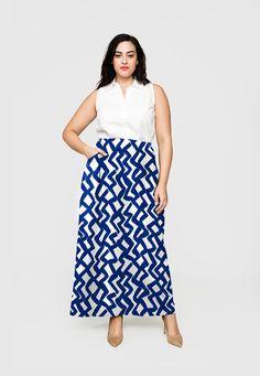 Maxi Skirt in Zig Zag (Full Figure)