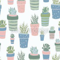 Sukkulenten Töpfe Designmuster by Julia Smirnova at patterndesigns.com