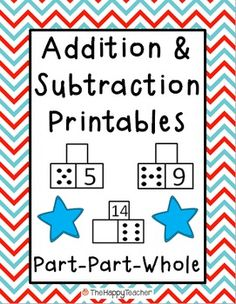 These printables are designed for math centers, independent practice, homework, or for use in small groups.  These worksheets will help students with basic addition and subtraction facts, counting on, fact families, subitizing (instant judgement of number or amount), and speed/automaticity with math facts.