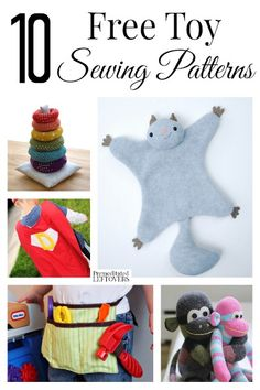 10 FREE Toy Sewing Patterns #sewing