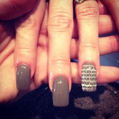 Marble nail art CND shellac