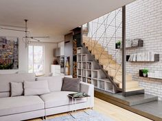 Space under stairs