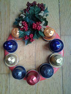 Corona de cápsulas Nespresso | Flickr: Intercambio de fotos