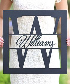 Unfinished Rectangle Personalized Last Name Sign (166765)