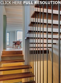 Decoration Ideas. Superb Staircase Designs Unusual And Creative Residential Home Decor: Hip And Cool Wooden Steps Foot Staircase Designs With Simple Banister Also White Interior Wall Painted In Contemporary Lofts Ideas