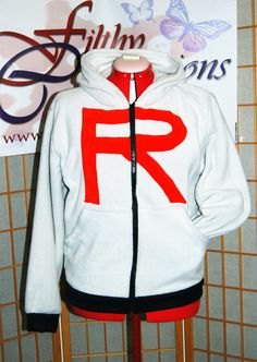 Pokemon  Team Rocket Hoodie Gray by FilthyCommissions on Etsy