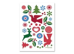 nordic christmas motifs. great for embroidery.