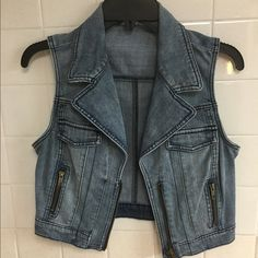 Jean vest Jean vest, size medium, worn once Jackets & Coats Vests