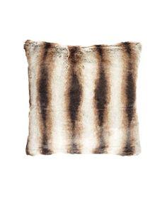 Chinchilla Faux Fur velvet pillow (24 inches square), $62, cspost.com.