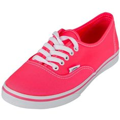 Sneaker Vans Authentic Lo Pro (Neon) coral ❤ liked on Polyvore