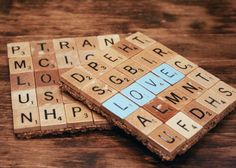 Scrabble Coaster Favors! #DIY A great keepsake!