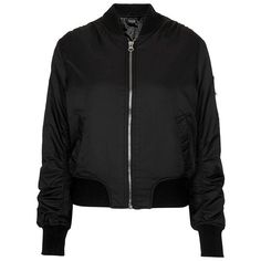 Women's Topshop 'Boris' Bomber Jacket (€88) ❤ liked on Polyvore featuring outerwear, jackets, tops, bomber jacket, military flight jacket, style bomber jacket, topshop jackets, military jacket and sporty jacket