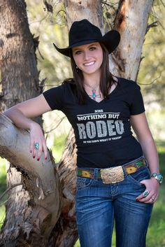 NBR Nothing But Rodeo : Rodeo Lifestyle Wear // Do You Have What It Takes : Women's T-Shirt // Get your NBR Nothing But Rodeo clothing at www.nbrnothingbutrodeo.com