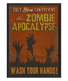 'Zombie Apocalypse' Framed Print #zulily #zulilyfinds