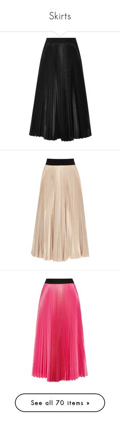 """Skirts"" by bliznec ❤ liked on Polyvore featuring skirts, black, knee high skirts, taffeta skirt, knee length skirts, knee length pleated skirt, tome, beige, pleated skirt and beige skirt"