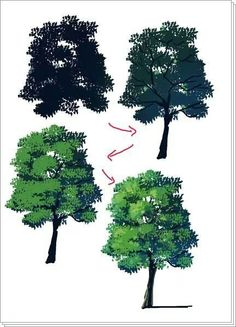 From pixiv, how to make a tree