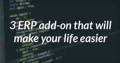 Simplify your business process with this #ERP #Software #Addons