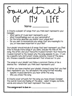 Soundtrack of my Life - Elements of Music Analysis for Distance Learning Elementary Music Lessons, Online Music Lessons, Music Lessons For Kids, Music For Kids, Math Lessons, Middle School Music, Middle School Classroom, High School, 6th Grade Ela