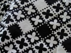 black and White  Cotton Fabric  3 Yards 24 Inches by jonscreations